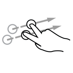 finger, flick, gestureworks, two icon