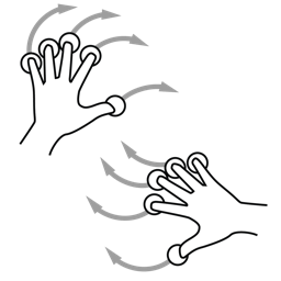 gestureworks, hand, rotate, two icon