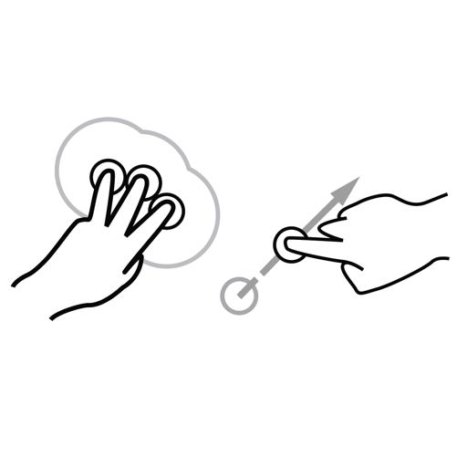 anchor, flick, gestureworks icon