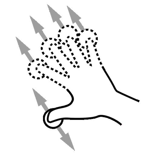 drag, finger, gestureworks, n icon
