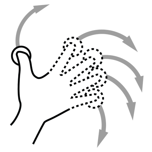 finger, gestureworks, n, rotate icon