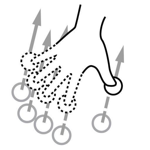finger, gestureworks, n, swipe icon