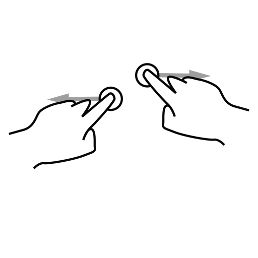finger, gestureworks, one, split icon