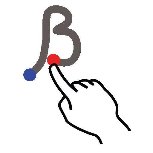 beta, gestureworks, greek, stroke icon