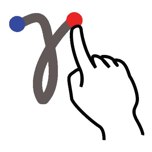 gamma, gestureworks, greek, stroke icon