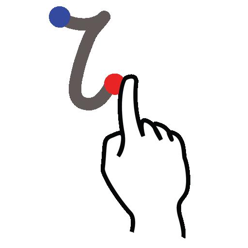 gestureworks, greek, iota, stroke icon