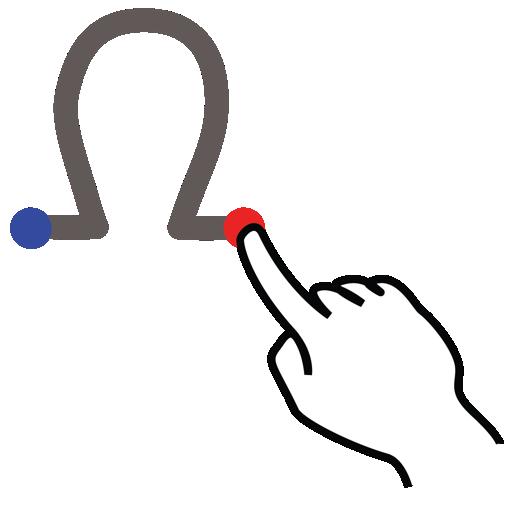 gestureworks, greek, omega, stroke icon