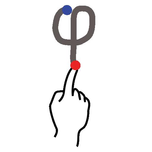 gestureworks, greek, phi, stroke icon