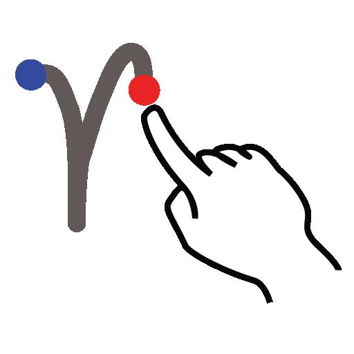 gestureworks, greek, stroke, upsilon icon