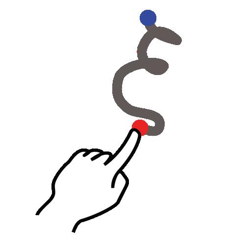 gestureworks, greek, stroke, xi icon