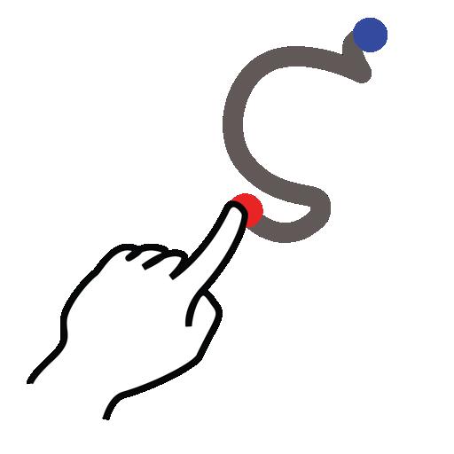gestureworks, greek, stroke, zeta icon