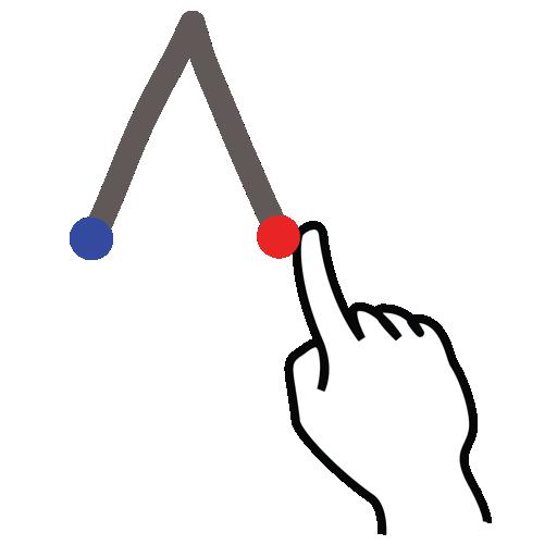 gestureworks, letter, stroke, uppercase icon