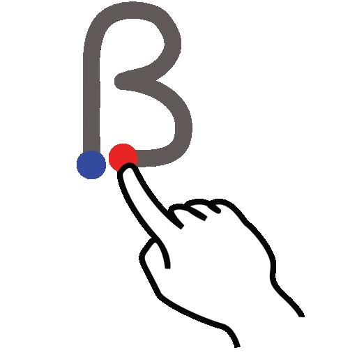 b, gestureworks, letter, stroke, uppercase icon