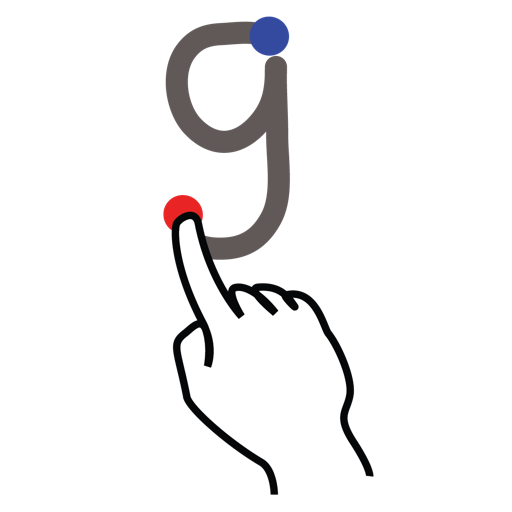 gestureworks, letter, lowercase, stroke icon