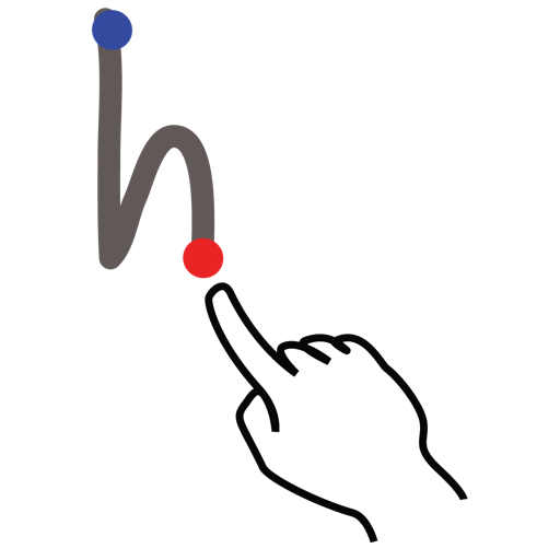 gestureworks, h, letter, stroke, uppercase icon