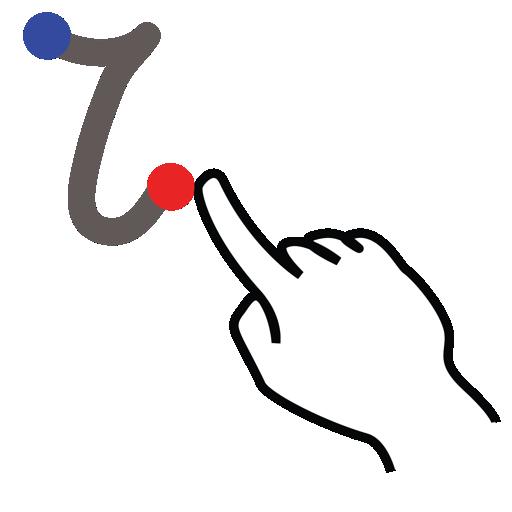 gestureworks, i, letter, lowercase, stroke icon