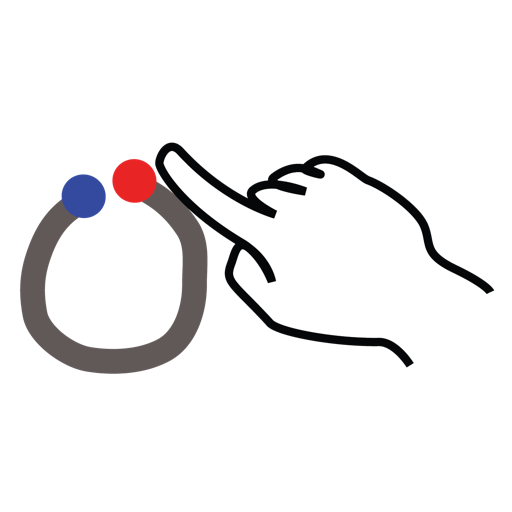 gestureworks, letter, lowercase, o, stroke icon