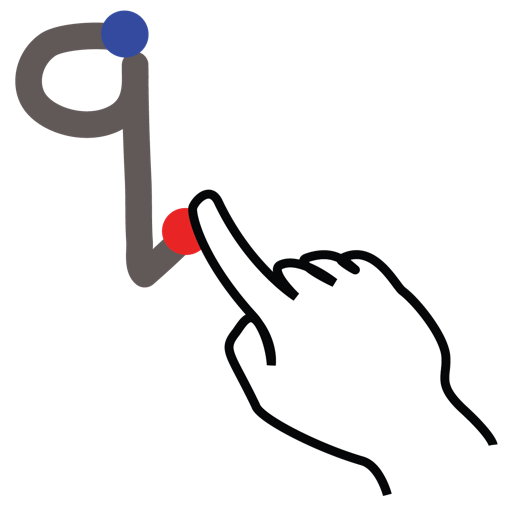 gestureworks, letter, lowercase, q, stroke icon