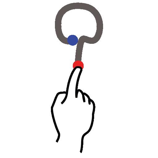 gestureworks, letter, q, stroke, uppercase icon
