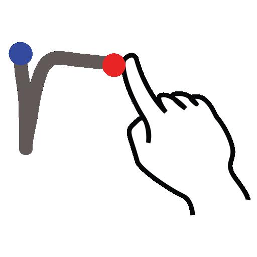 gestureworks, letter, lowercase, r, stroke icon