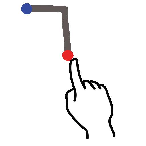 gestureworks, letter, stroke, t, uppercase icon