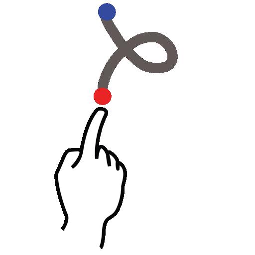 gestureworks, letter, lowercase, stroke icon