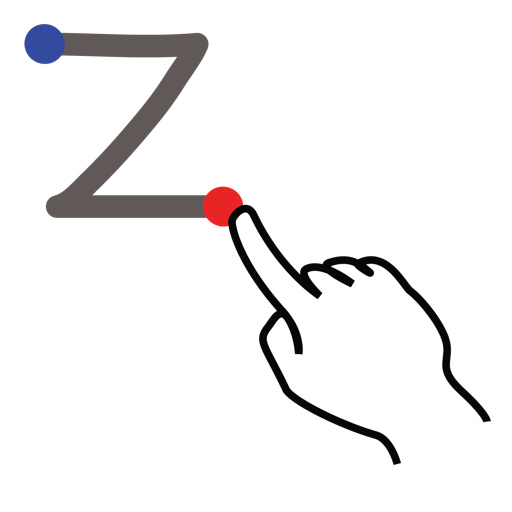 gestureworks, letter, lowercase, stroke, z icon