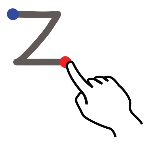 gestureworks, letter, stroke, uppercase, z icon
