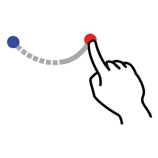 arc, gestureworks, shape, stroke, up icon