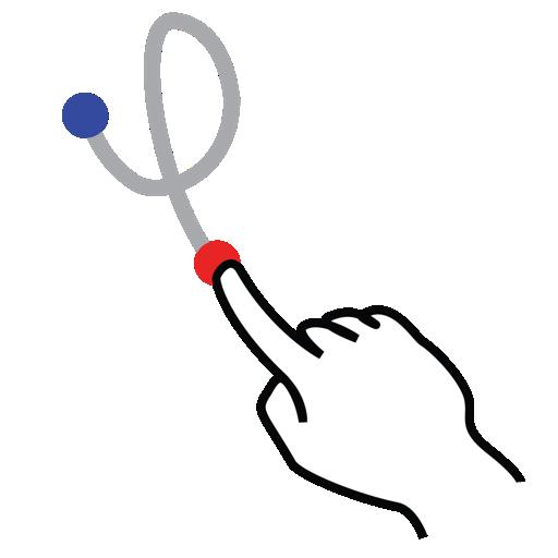 gestureworks, left, loop, shape, stroke icon