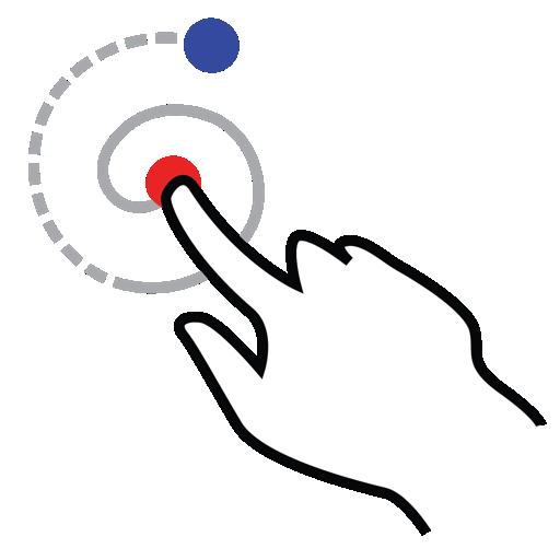 gestureworks, left, shape, spiral, stroke icon