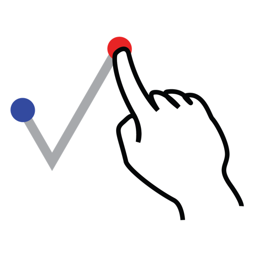 gestureworks, right, shape, stroke, tick icon