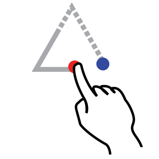 gestureworks, shape, stroke, triangle, up icon