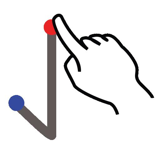 arrow, down, gestureworks, stroke icon