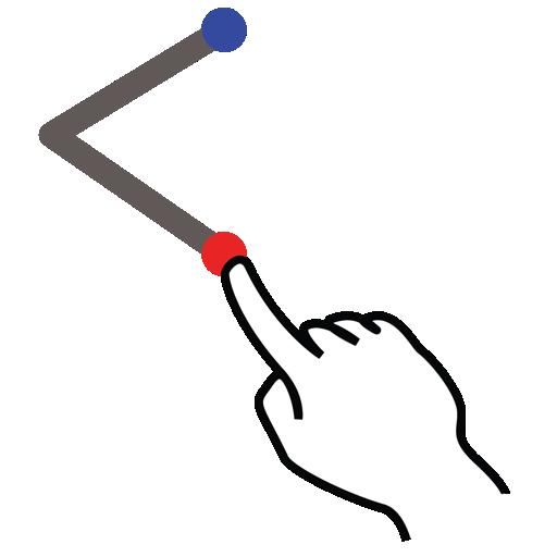 chevron, gestureworks, right, stroke icon