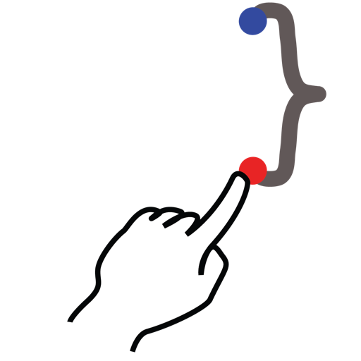 bracket, curly, gestureworks, right, stroke icon