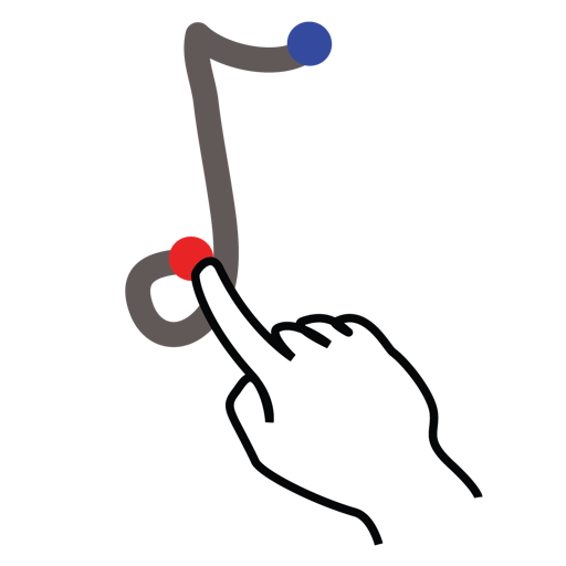 gestureworks, note, stroke icon