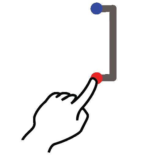 bracket, gestureworks, right, square, stroke icon