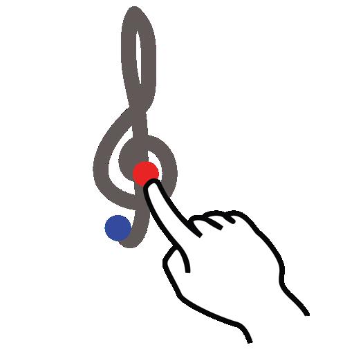 clef, gestureworks, stroke, treble icon