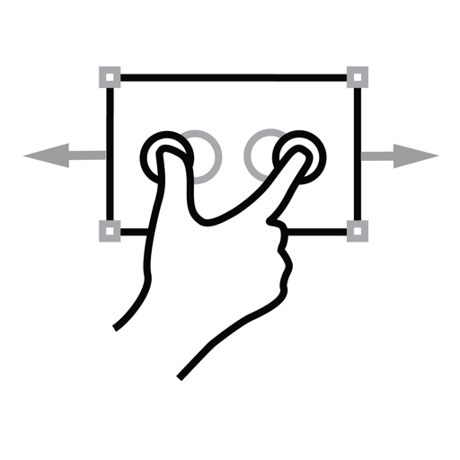 finger, gestureworks, horizontal, scale, two icon