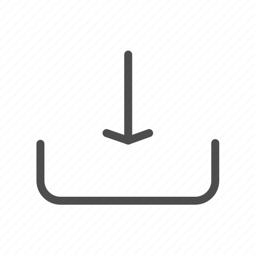 arrow, direction, download, downward, file, guardar, import, save icon