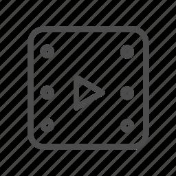 movie, play, player, showbiz, video icon