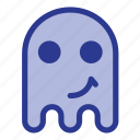 emoji, emoticon, ghost, happy icon