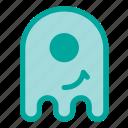 emoji, emoticon, ghost, smile, halloween