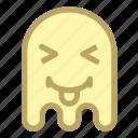 emoji, emoticon, ghost, halloween, toungue icon