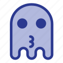 emoji, emoticon, ghost, kiss icon