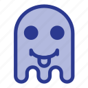 emoji, emoticon, ghost, tongue icon