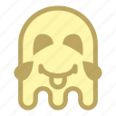emoji, emoticon, ghost, halloween, laugh, tongue icon