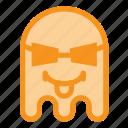 emoji, emoticon, ghost, halloween, savage, thug, tongue icon