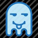 emoji, emoticon, envy, ghost, halloween, tongue icon